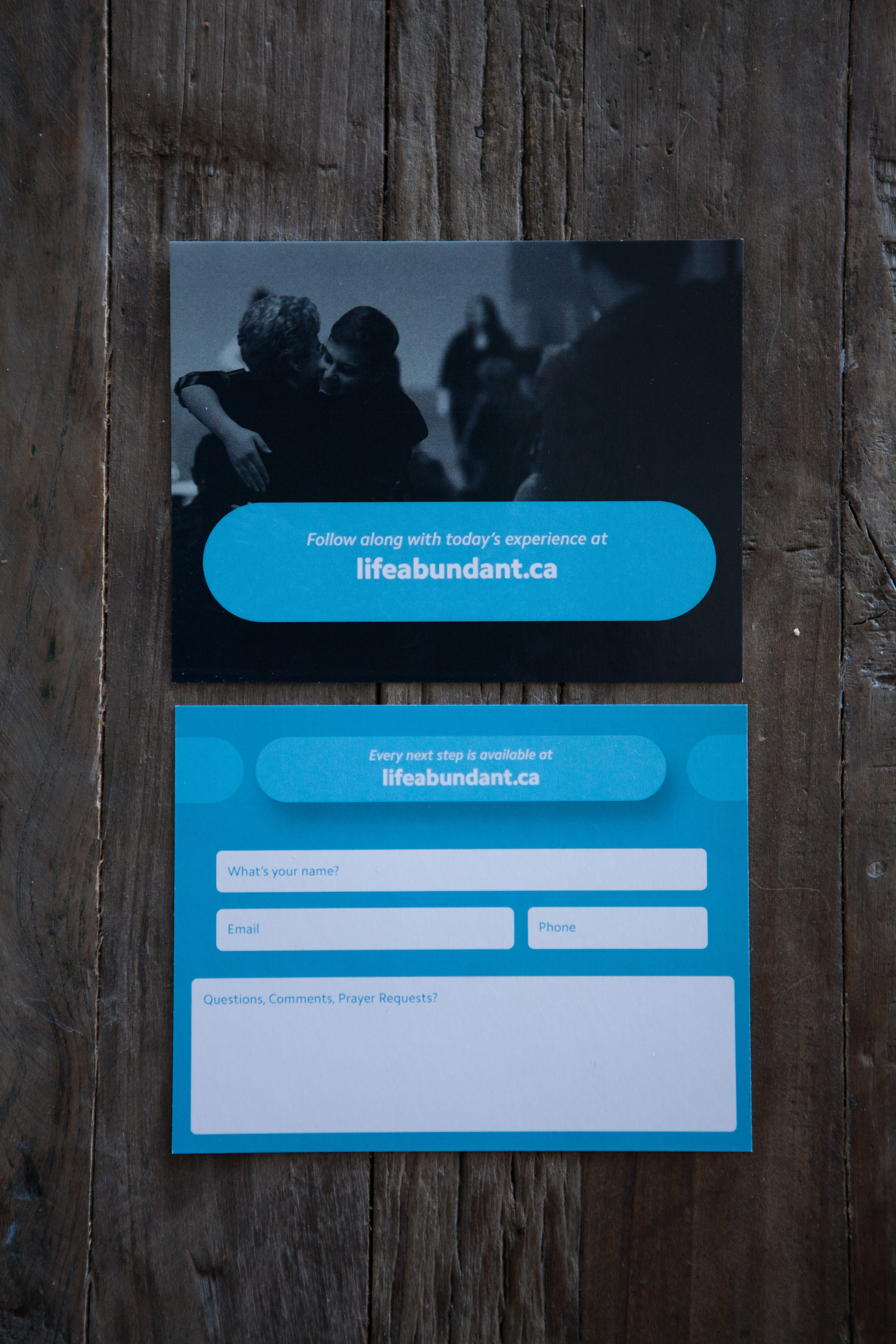 Church connect card template